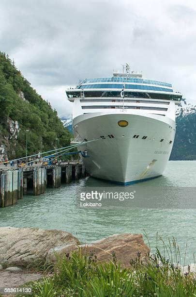 Island Princess Cruise Ship at Skagway