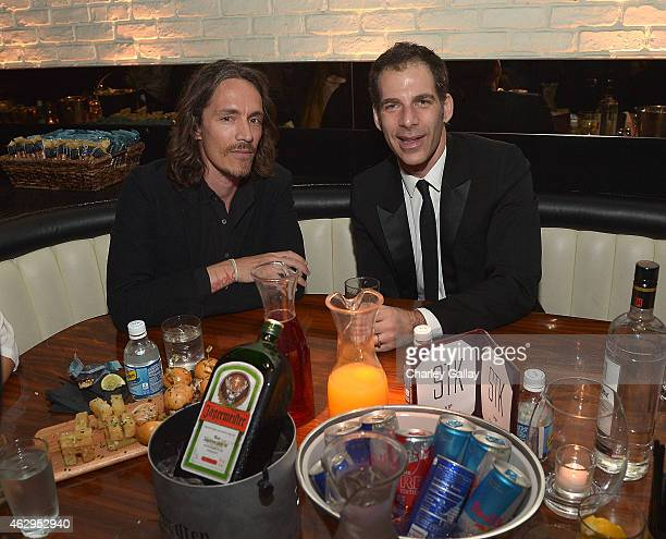 Island recording artist Brandon Boyd of Incubus and Editor Billboard Magazine Joe Levy attend Island Records PreGrammy Party Hosted By President...