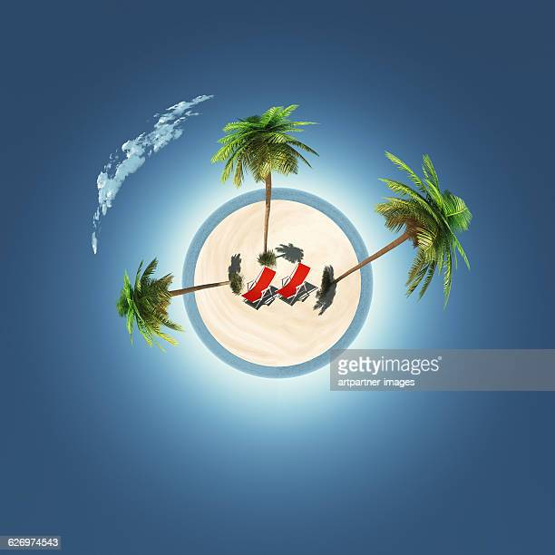 Island symbolising vacation, holidays , relaxation