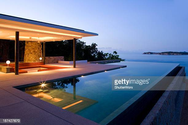 island villa - tourist resort stock pictures, royalty-free photos & images