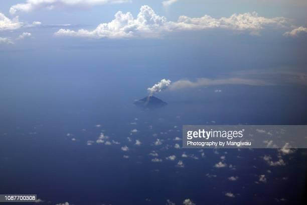 island volcano - wispy stock photos and pictures
