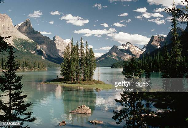 Island With Evergreens on Glacial Lake, Canada