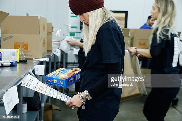 Islanders players wife Anne Sophie Renier attends 2016 Henrik Lundqvist Foundation Food Bank For New York City Repack Day Challenge at Food Bank for...