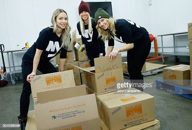 Islanders players wives Cassie Clutterbuck Anne Sophie Bernier and Moa Nielsen attends 2016 Henrik Lundqvist Foundation Food Bank For New York City...