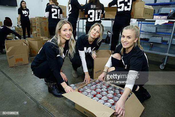 Islanders players wives Cassie Clutterbuck Moa Nielsen and Martin attend 2016 Henrik Lundqvist Foundation Food Bank For New York City Repack Day...