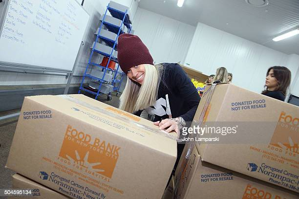 Islanders wife Anne Sophie Bernier attends 2016 Henrik Lundqvist Foundation Food Bank For New York City Repack Day Challenge at Food Bank for New...