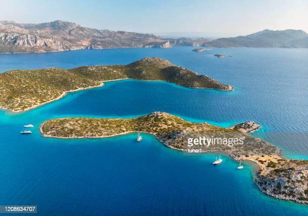 islands, mediterranean coast, turkey - aegean sea stock pictures, royalty-free photos & images