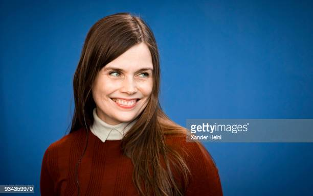 Island's Prime Minister Katrin Jakobsdottir speaks at a press conference at the German Chancellery on March 19 2018 in Berlin Germany The main topic...