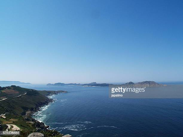 islas cies in vigo - skinny dipping stock pictures, royalty-free photos & images