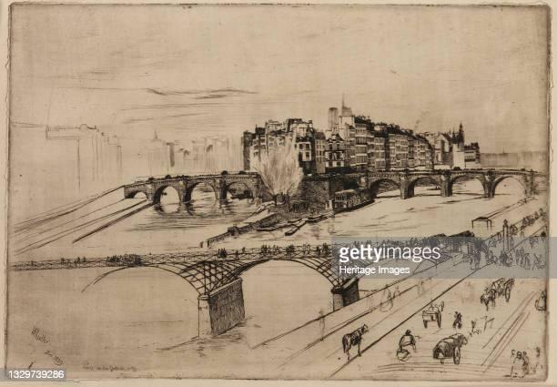 Isle de la Cité, Paris, 1859. Artist James Abbott McNeill Whistler.