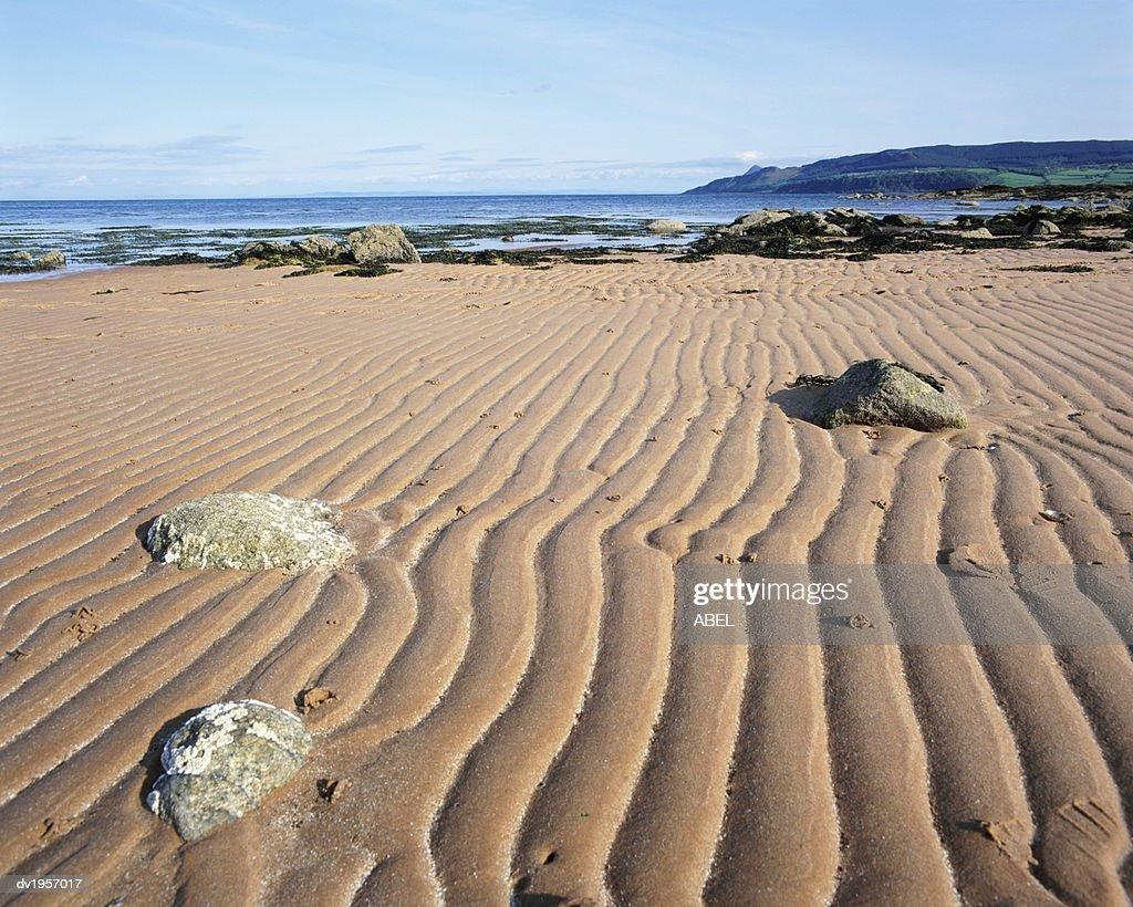 Isle of Arran From Merkland Point, North Ayrshire, Scotland : Stock Photo