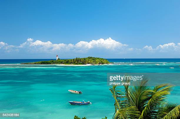 Isle of Gosier in the Caribbean waters is part of Guadeloupe's Grande Terre region   Location sainte anne Guadeloupe France