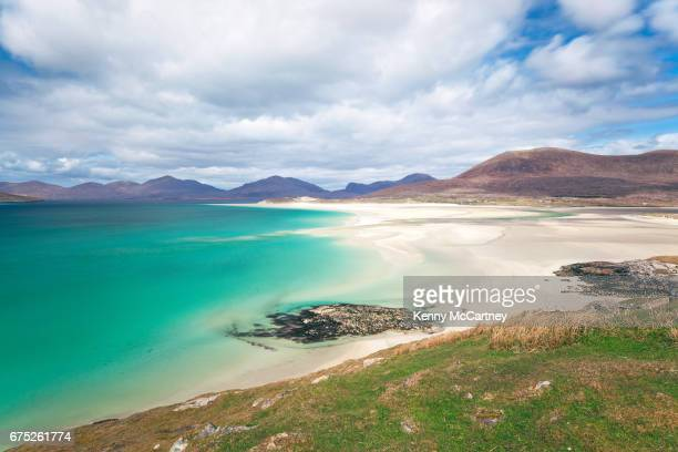 isle of harris - seilebost beach - scotland stock pictures, royalty-free photos & images
