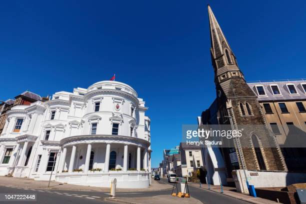 isle of man government building in douglas - isle of man stock pictures, royalty-free photos & images