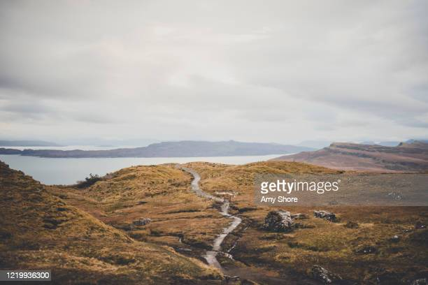 isle of sky scotland old man of storr hike - scottish culture stock pictures, royalty-free photos & images