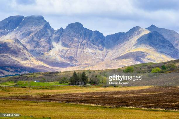 Isle of Skye, Scotland, UK. View over Black Cuillin mountains.