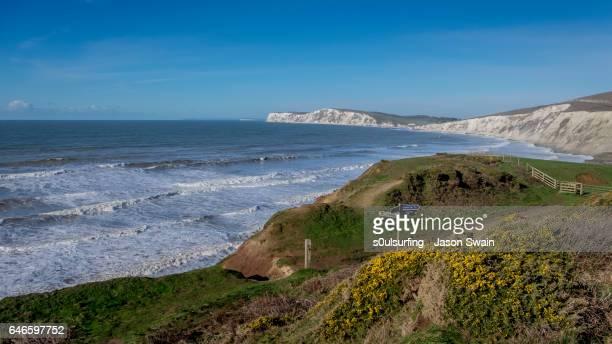 isle of wight coastal path - s0ulsurfing fotografías e imágenes de stock