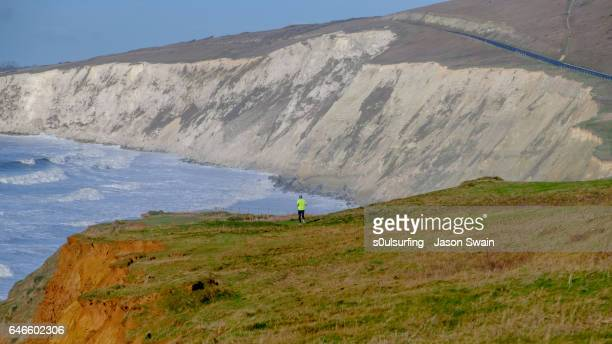 isle of wight coastal path - s0ulsurfing stock-fotos und bilder