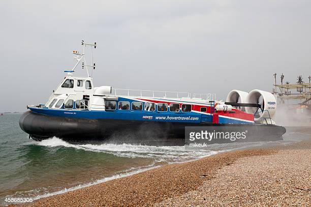 isle of wight commercial hovercraft - portsmouth england stock photos and pictures