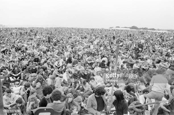 Isle of Wight Festival 1969, held on 29th to 31st August 1969 at the English town of Wootton, on the Isle of Wight, aerial, views, Friday 29th August...