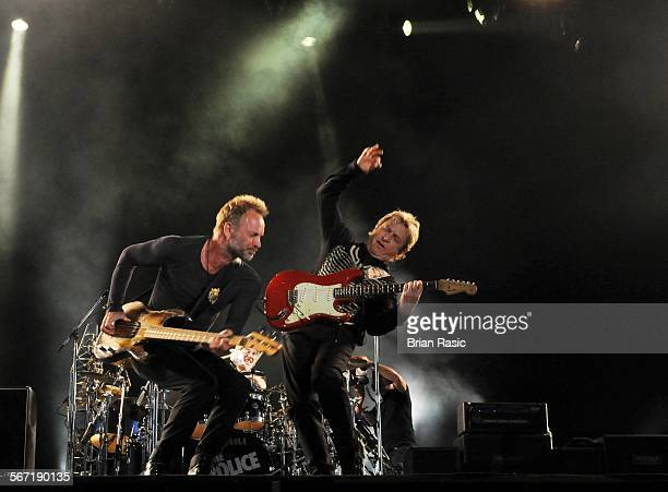 Isle Of Wight Festival Newport Britain 15 Jun 2008 The Police Sting And Stewart Copeland
