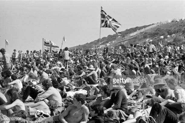 Isle of Wight pop festival, 29th August 1970.
