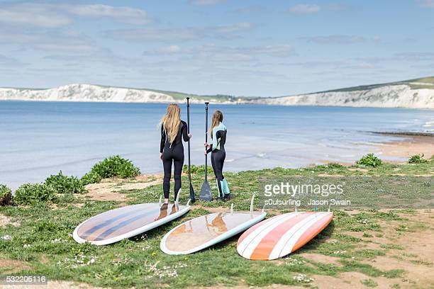 isle of wight stand up paddle board (sup) - isle of wight stock photos and pictures