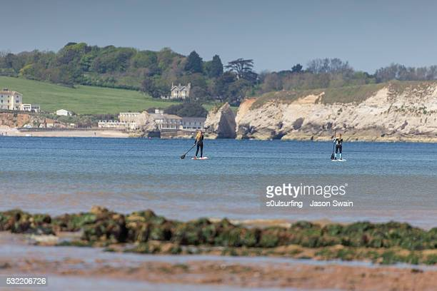 isle of wight stand up paddle board (sup) - s0ulsurfing foto e immagini stock
