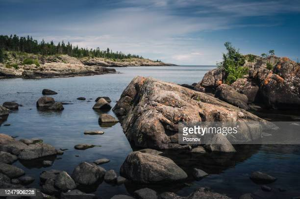 isle royale - lake superior stock pictures, royalty-free photos & images