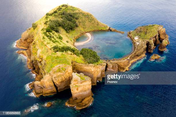 islet of vila franca do campo - campo stock pictures, royalty-free photos & images