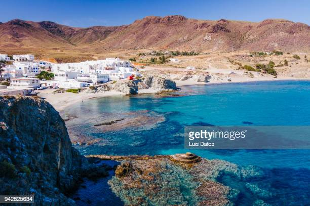 isleta del moro in cabo de gata. - andalucia stock pictures, royalty-free photos & images