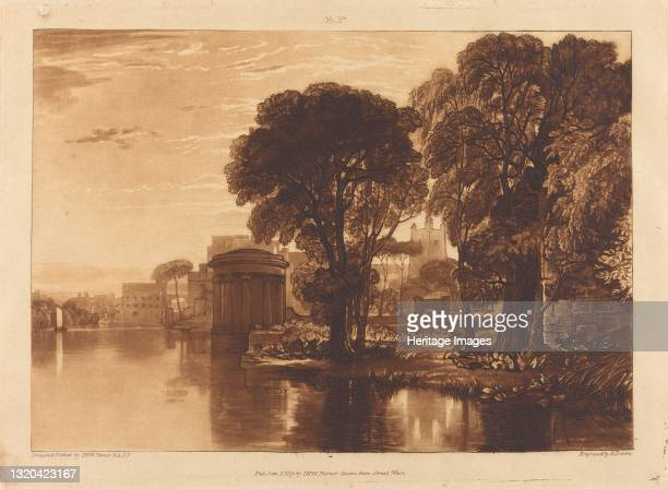 Isleworth, published 1819. Artist JMW Turner.