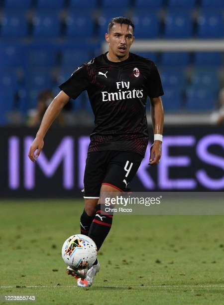 Ismael Bennacer of AC Milan during the Serie A match between SPAL and AC Milan at Stadio Paolo Mazza on July 1 2020 in Ferrara Italy