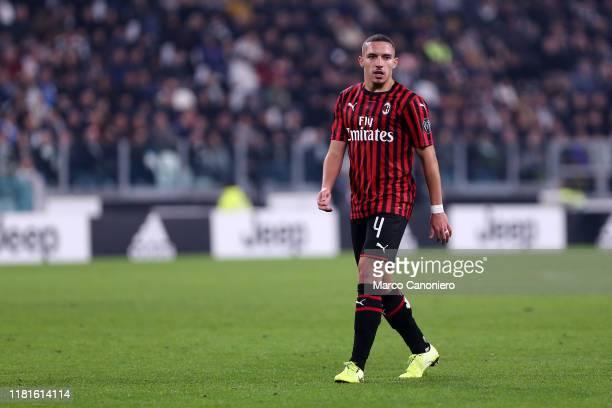 Ismael Bennacer of Ac Milan during the the Serie A match between Juventus Fc and Ac Milan Juventus Fc wins 10 over Ac Milan