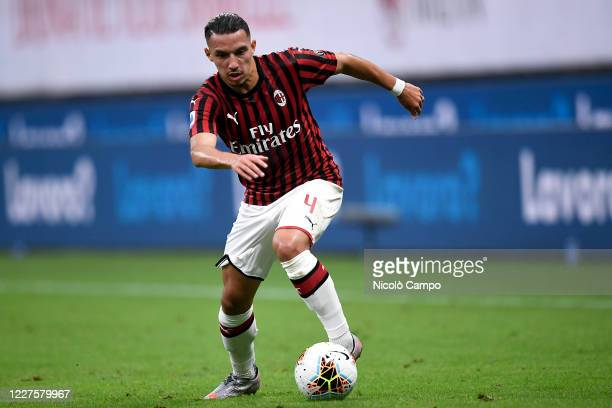 Ismael Bennacer of AC Milan in action during the Serie A football match between AC Milan and Parma Calcio AC Milan won 31 over Parma Calcio