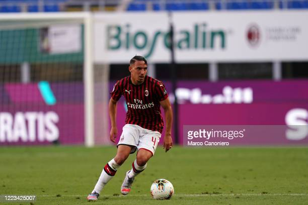 Ismael Bennacer of Ac Milan in action during the Serie A match between Ac Milan and As Roma Ac Milan wins 20 over As Roma