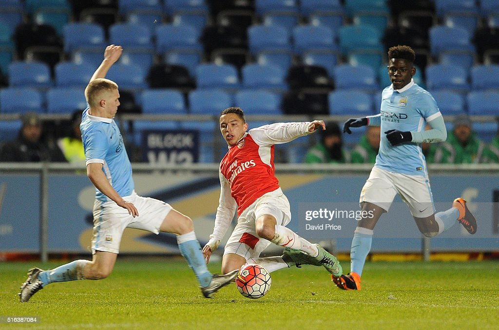 Manchester City v Arsenal: FA Youth Cup Semi Final, First Leg : News Photo