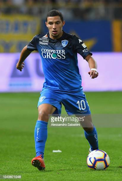 Ismael Bennacer of Empoli Fc controls the ball during the Serie A match between Parma Calcio and Empoli at Stadio Ennio Tardini on September 30 2018...