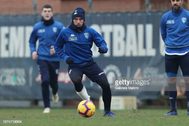 Ismael Bennacer of Empoli FC during a training session on December 24 2018 in Empoli Italy