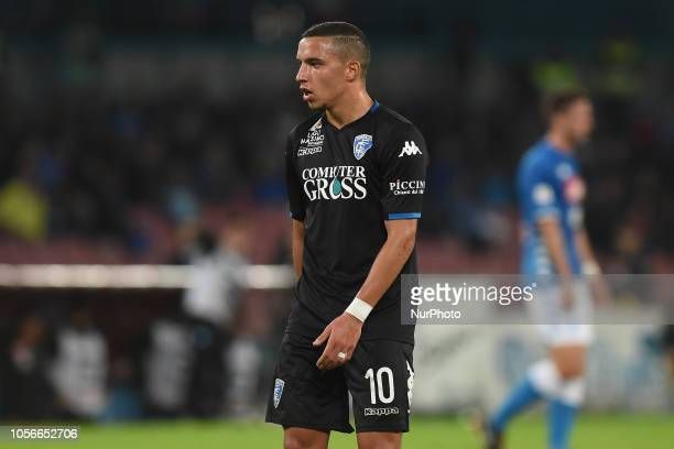 Ismael Bennacer of Empoli FC during the Serie A TIM match between SSC Napoli and Empoli FC at Stadio San Paolo Naples Italy on 2 November 2018