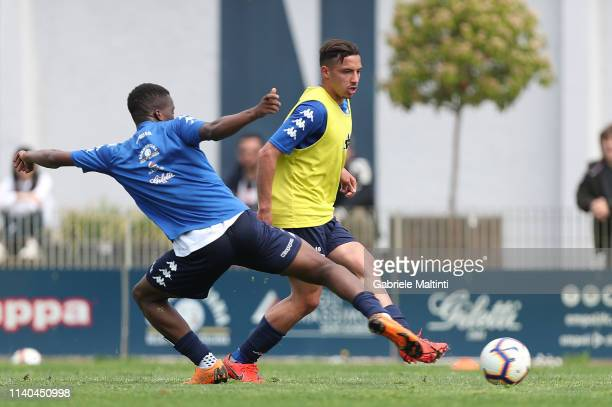 Ismael Bennacer of Empoli FC during training session on May 1 2019 in Empoli Italy