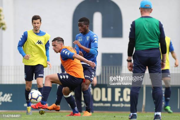 Ismael Bennacer of Empoli FC during training session on May 8 2019 in Empoli Italy