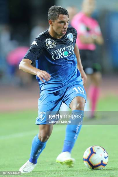 Ismael Bennacer of Empoli FC in action during the Coppa Italia match between Empoli FC and Cittadella at Stadio Carlo Castellani on August 12 2018 in...