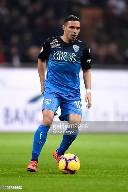 Ismael Bennacer of Empoli FC in action during the Serie A football match between AC Milan and Empoli FC AC Milan won 30 over Empoli FC