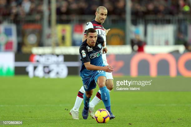 Ismael Bennacer of Empoli FC in action during the Serie A match between Empoli and Bologna FC at Stadio Carlo Castellani on December 9 2018 in Empoli...