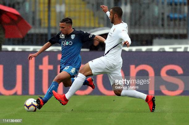 Ismael Bennacer of Empoli FC in action during the Serie A match between Empoli and ACF Fiorentina at Stadio Carlo Castellani on May 5 2019 in Empoli...