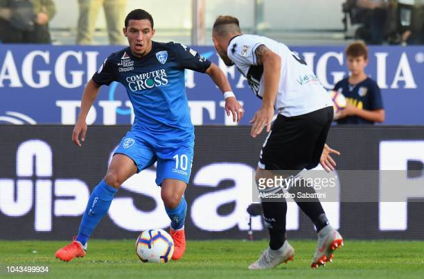 Ismael Bennacer of Empoli Fc in action during the Serie A match between Parma Calcio and Empoli at Stadio Ennio Tardini on September 30 2018 in Parma...