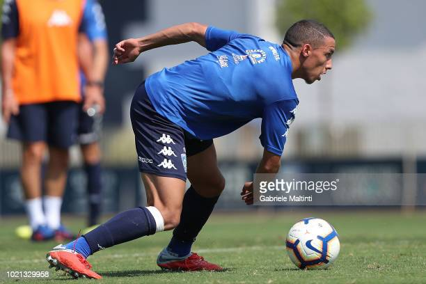 Ismael Bennacer of Empoli Fc in action during the training session on August 22 2018 in Empoli Italy