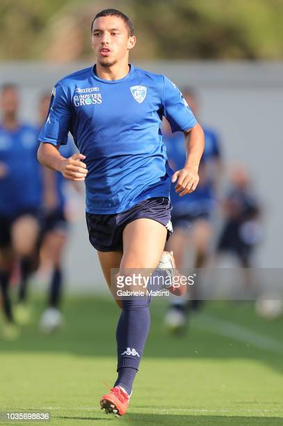 Ismael Bennacer of Empoli FC in action during training session on September 18 2018 in Empoli Italy