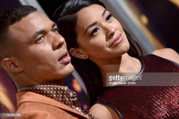 Ismael Cruz Cordova and Gina Rodriguez attend the premiere of Columbia Pictures' 'Miss Bala' at Regal LA Live Stadium 14 on January 30 2019 in Los...